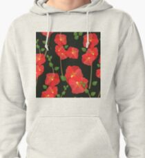 Playful Poppy Pattern Pullover Hoodie