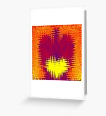 Torn Hearts ~ Abstract Design Greeting Card
