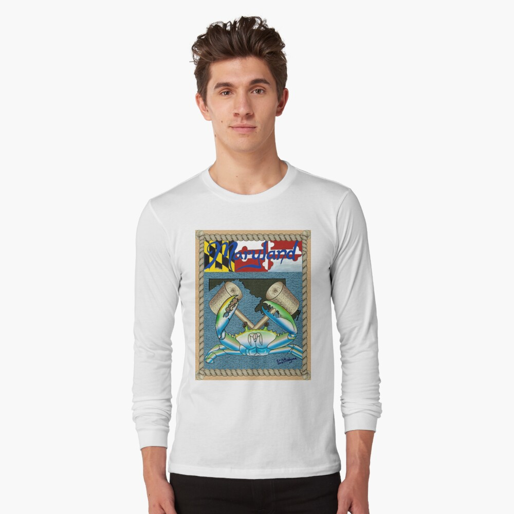 Maryland crab Long Sleeve T-Shirt