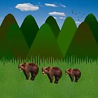 Bears in the Mountains by Kathy Weaver