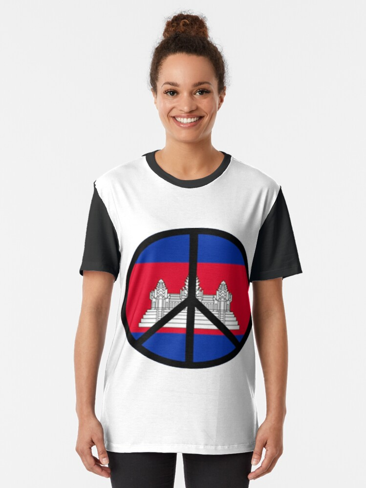 Alternate view of Peace In Cambodia Graphic T-Shirt