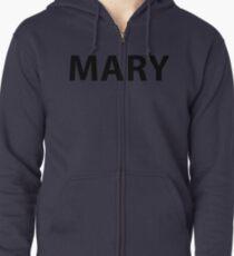 MARY ARMY Zipped Hoodie