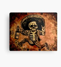 Posada Day of the Dead Outlaw Metal Print