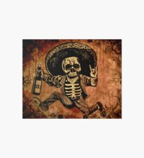 Posada Day of the Dead Outlaw Art Board