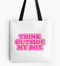 Think Outside My Box Feminist Typography Tote Bag