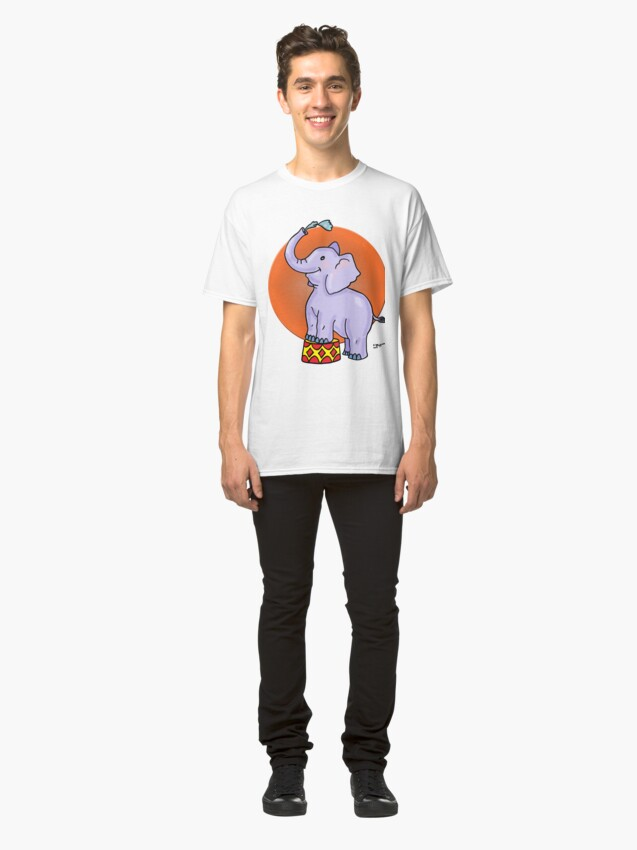 Alternate view of Baby Circus Elephant Classic T-Shirt
