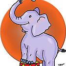 Baby Circus Elephant by DarkRubyMoon