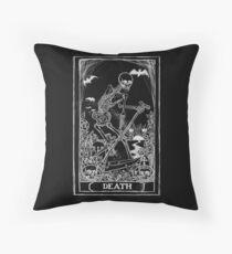 Death Card Throw Pillow
