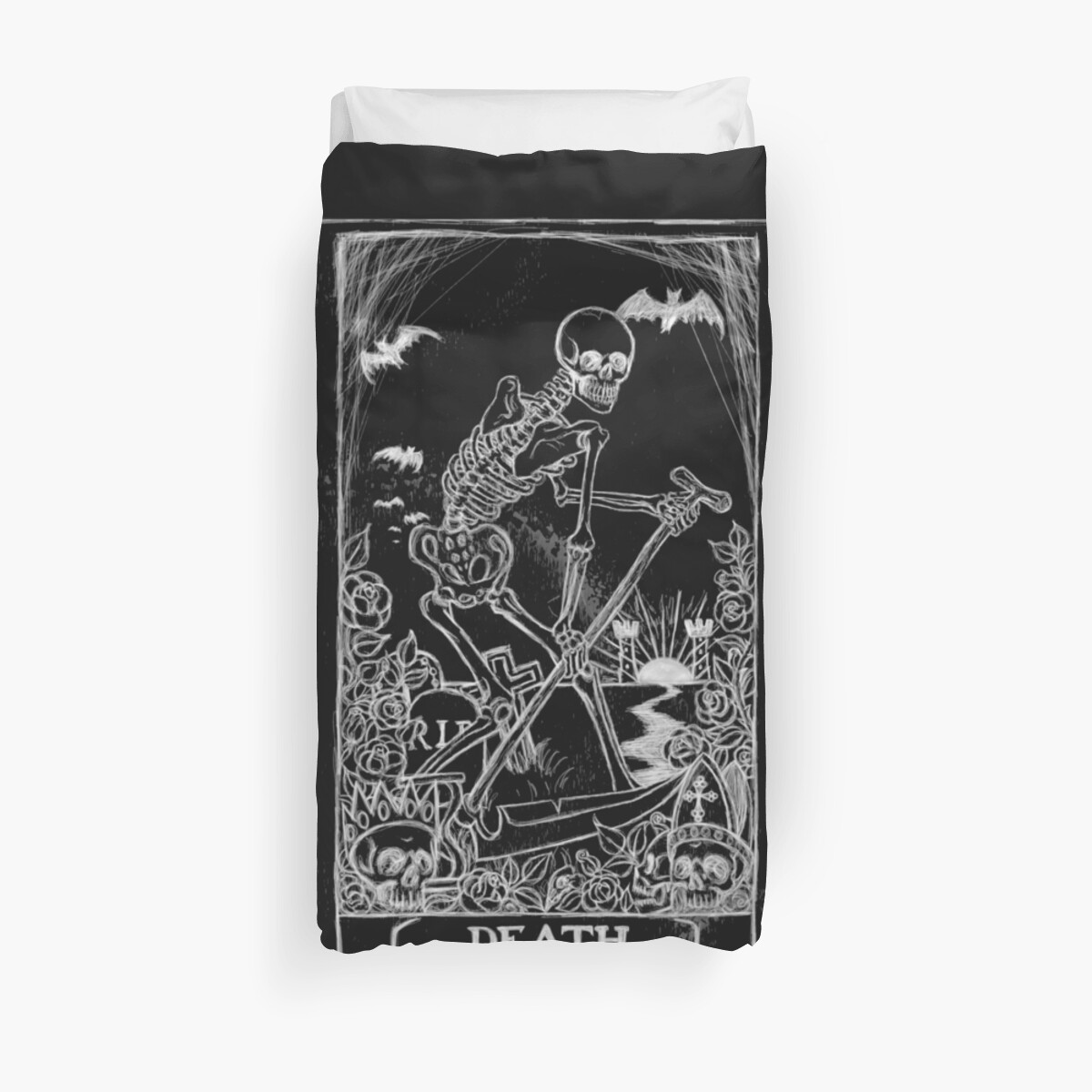 Quot Death Card Quot Duvet Covers By Shayneofthedead Redbubble