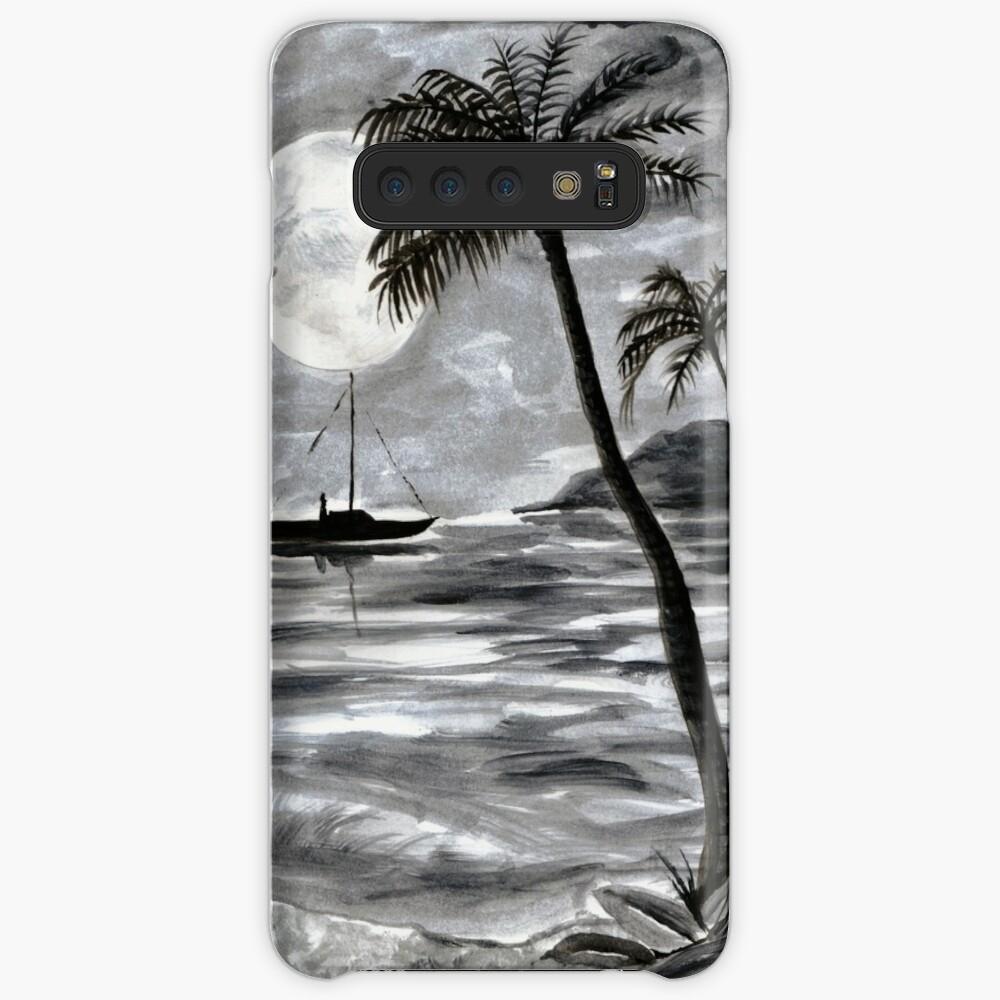 Moon Over Palm Trees Case & Skin for Samsung Galaxy