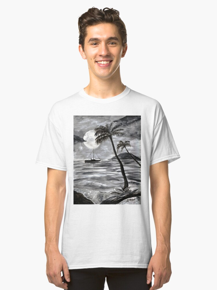 Alternate view of Moon Over Palm Trees Classic T-Shirt
