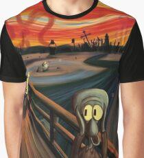Squidward Q. Tentacles Scream Graphic T-Shirt