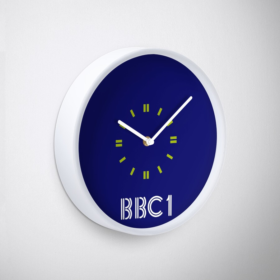 BBC1 80s Wall Clock