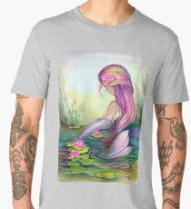 Mermaid and Lotus Men's Premium T-Shirt