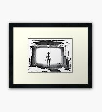Ufo shadow incoming Framed Print