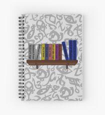 Book and runes Spiral Notebook
