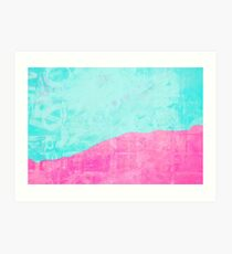 Mint and pink floss Art Print