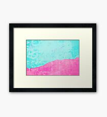 Mint and pink floss Framed Print
