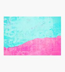 Mint and pink floss Photographic Print