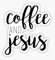 coffee & jesus Sticker