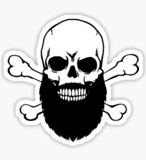 Bearded Skull Sticker