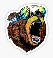 Ski Bear illustration Sticker