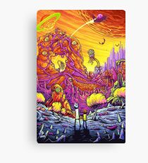 Monsters World Canvas Print