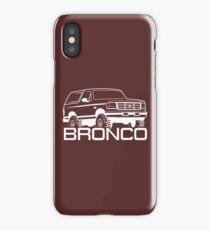 1992-1996 Ford Bronco, white print iPhone Case/Skin