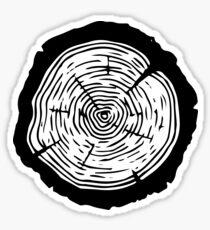 Tree Ring - Wood slice ornament, tree slice Sticker