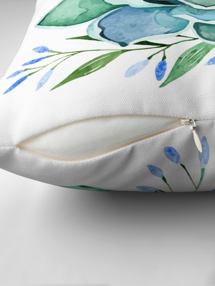 Alternate view of Watercolor Succulent Throw Pillow