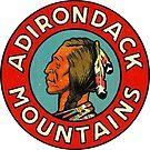 Adirondack Mountains Vintage Travel Decal by hilda74