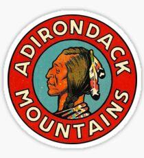Adirondack Mountains Vintage Travel Decal Sticker