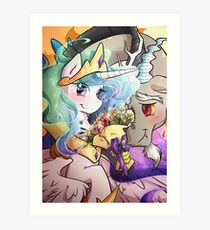 Celestia x Discord Art Print