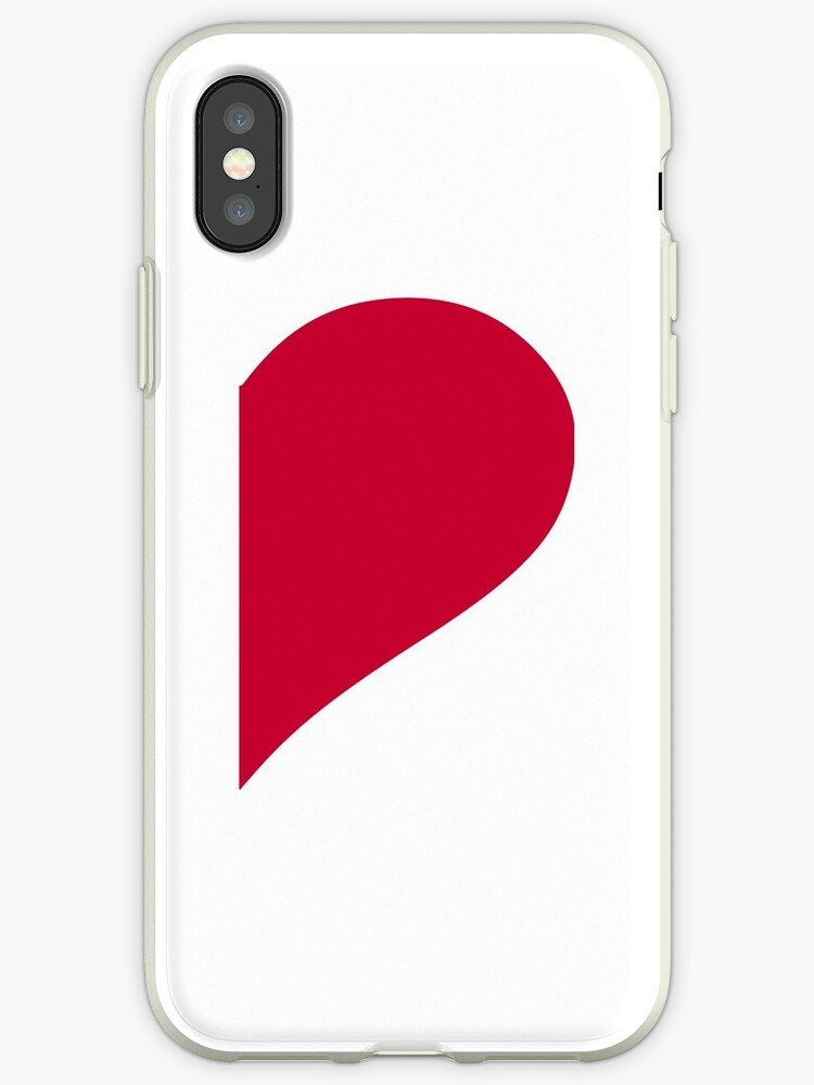 Red Right Half Heart Iphone Cases Covers By Designzz Redbubble