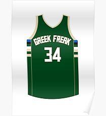 Greek Freak Jersey Script 1 Poster