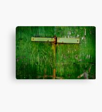 The one with the green hinged door Canvas Print