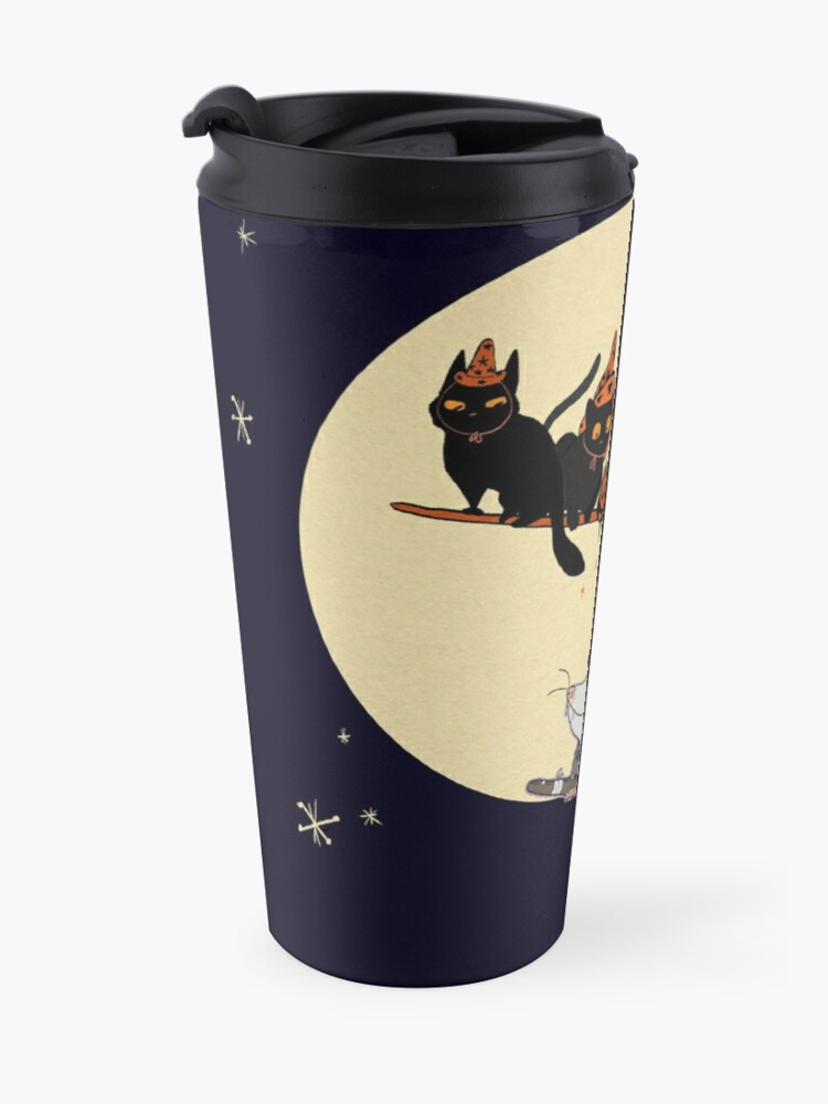 Alternate view of Witches' Familiar? Travel Mug