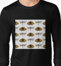 Butterfly & Dragonfly Pattern T-Shirt