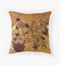 'Sieben Glücksgötter' von Katsushika Hokusai (Reproduktion) Dekokissen