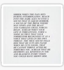 'Shriek When The Pain Hits' Jenny Holzer Print Sticker