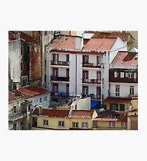 Lisbon Portugal Apartments Photographic Print