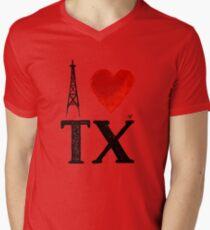 I Heart Texas (remix) by Tai's Tees Mens V-Neck T-Shirt