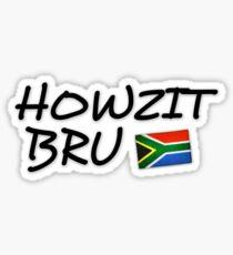 Howzit Bru Sticker