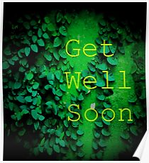 Get Well Soon Green Poster