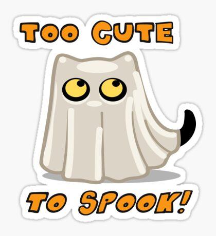 Ghost Cat tshirt Sticker