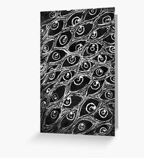 Spooky Eyes Greeting Card