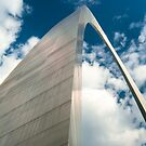 Saint Louis Gateway Arch and Puffy Clouds - High Dynamic Range by Gregory Ballos