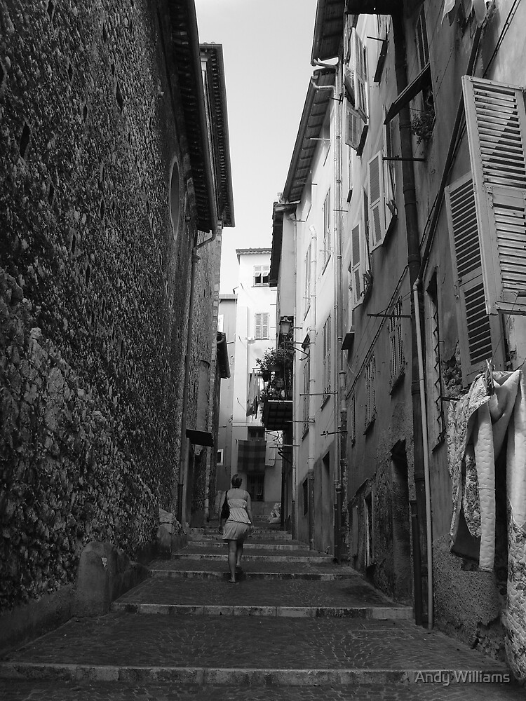 Back in time in Villafrance by Andy Williams