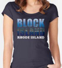 Block Island, Rhode Island Background Women's Fitted Scoop T-Shirt