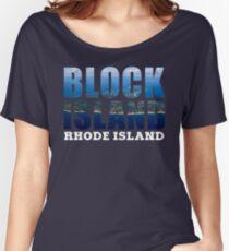Block Island, Rhode Island Background Women's Relaxed Fit T-Shirt